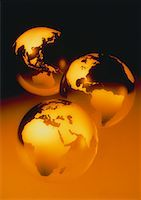 Three Globes Displaying Continents of the World    Stock Photo - Premium Rights-Managednull, Code: 700-00028558