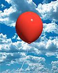Balloon in Sky    Stock Photo - Premium Rights-Managed, Artist: Guy Grenier, Code: 700-00028581