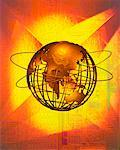 Wire Globe and Rings Pacific Rim    Stock Photo - Premium Rights-Managed, Artist: Ken Davies, Code: 700-00028883