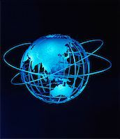 Wire Globe and Rings Pacific Rim    Stock Photo - Premium Rights-Managednull, Code: 700-00028957
