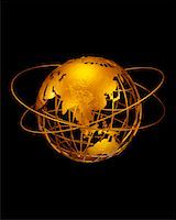 Wire Globe with Rings Pacific Rim    Stock Photo - Premium Rights-Managednull, Code: 700-00028965