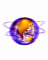 Wire Globe with Rings Pacific Rim    Stock Photo - Premium Rights-Managednull, Code: 700-00028987