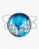 Wire Globe and Rings Pacific Rim    Stock Photo - Premium Rights-Managednull, Code: 700-00029509