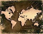 World Map and Navigational Charts    Stock Photo - Premium Rights-Managed, Artist: Nora Good, Code: 700-00031306