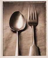 Spoon and Fork    Stock Photo - Premium Rights-Managednull, Code: 700-00031407