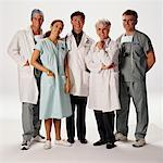 Group Portrait of Medical Professionals    Stock Photo - Premium Rights-Managed, Artist: Jim Craigmyle, Code: 700-00032106