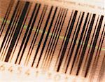 Close-Up of Laser Reading Barcode    Stock Photo - Premium Rights-Managed, Artist: G. Biss, Code: 700-00032254