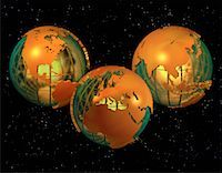 Three Globes Displaying Continents of the World    Stock Photo - Premium Rights-Managednull, Code: 700-00032436