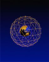 Globe in Wire Sphere Pacific Rim    Stock Photo - Premium Rights-Managednull, Code: 700-00034300