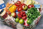 Groceries in Shopping Basket    Stock Photo - Premium Rights-Managed, Artist: G. Biss, Code: 700-00034610