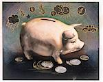 Piggy Bank    Stock Photo - Premium Rights-Managed, Artist: Andrew Kolb, Code: 700-00035069
