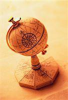 Antique Globe    Stock Photo - Premium Royalty-Freenull, Code: 600-00035597