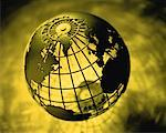 Wire Globe Atlantic Ocean    Stock Photo - Premium Rights-Managed, Artist: David Muir, Code: 700-00035536