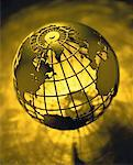 Wire Globe Atlantic Ocean    Stock Photo - Premium Rights-Managed, Artist: David Muir, Code: 700-00035537