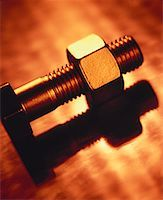 Close-Up of Nut and Bolt    Stock Photo - Premium Rights-Managednull, Code: 700-00036034