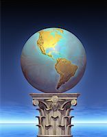 Globe on Pedestal North and South America    Stock Photo - Premium Rights-Managednull, Code: 700-00036188