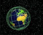 Globe and Grid Europe and Africa    Stock Photo - Premium Rights-Managed, Artist: Rick Fischer, Code: 700-00036481