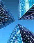 Looking Up at Office Towers    Stock Photo - Premium Rights-Managed, Artist: Guy Grenier, Code: 700-00036521