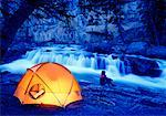 Camping Banff National Park, Alberta Canada    Stock Photo - Premium Rights-Managed, Artist: Daryl Benson, Code: 700-00037916