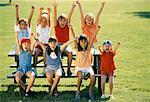 Group of Excited Girls on Picnic Table    Stock Photo - Premium Rights-Managed, Artist: Brian Pieters, Code: 700-00038989