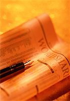 Close-Up of Financial Pages and Pen    Stock Photo - Premium Rights-Managednull, Code: 700-00040949