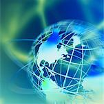 Wire Globe and Rings North America    Stock Photo - Premium Rights-Managed, Artist: Ken Davies, Code: 700-00041009