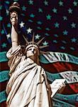 Statue of Liberty and American Flag New York, New York, USA