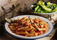 Pasta and Salad    Stock Photo - Premium Rights-Managednull, Code: 700-00041274