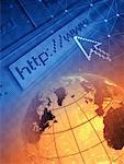 Wire Globe and Internet Address