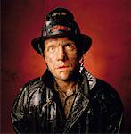 Portrait of Male Fire Fighter    Stock Photo - Premium Rights-Managed, Artist: Philip Rostron, Code: 700-00043805