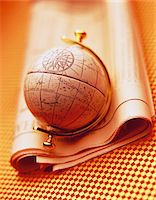 Antique Globe and Stock Listings    Stock Photo - Premium Royalty-Freenull, Code: 600-00044100