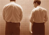 Back View of Businessmen in Washroom    Stock Photo - Premium Rights-Managednull, Code: 700-00044640