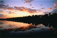 Sunset over Trees and Water Fitzroy Crossing Western Australia, Australia    Stock Photo - Premium Rights-Managednull, Code: 700-00044817
