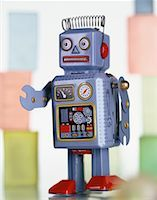 Toy Robot    Stock Photo - Premium Rights-Managednull, Code: 700-00045363