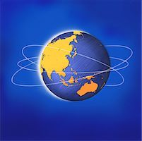 Globe with Rings Asia and Australia    Stock Photo - Premium Rights-Managednull, Code: 700-00045879