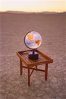 Globe on Table in Desert Nevada, USA    Stock Photo - Premium Rights-Managednull, Code: 700-00045973