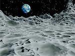 View of Earth from Moon    Stock Photo - Premium Rights-Managed, Artist: Rick Fischer, Code: 700-00046357