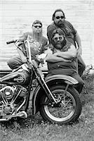 Portrait of Bikers with Motorcycle Marmora, Ontario, Canada    Stock Photo - Premium Rights-Managednull, Code: 700-00047677