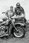 Portrait of Bikers with Motorcycle Marmora, Ontario, Canada    Stock Photo - Premium Rights-Managed, Artist: Peter Christopher, Code: 700-00047677