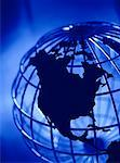 Close-Up of Wire Globe North America    Stock Photo - Premium Rights-Managed, Artist: Roy Ooms, Code: 700-00048554