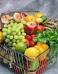 Wire Basket of Fruits and Vegetables    Stock Photo - Premium Rights-Managed, Artist: G. Biss, Code: 700-00048871