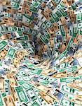Vortex of International Currency    Stock Photo - Premium Rights-Managed, Artist: Guy Grenier, Code: 700-00049017