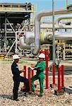 Refinery Workers, Arun Oil Field Sumatra, Indonesia    Stock Photo - Premium Rights-Managed, Artist: R. Ian Lloyd, Code: 700-00049075