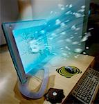 Computer Screen Exploding    Stock Photo - Premium Rights-Managed, Artist: Philip Rostron, Code: 700-00049127