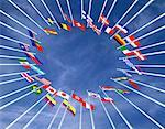 Circle of International Flags    Stock Photo - Premium Rights-Managed, Artist: Guy Grenier, Code: 700-00050891