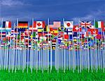 International Flags    Stock Photo - Premium Rights-Managed, Artist: Guy Grenier, Code: 700-00050894
