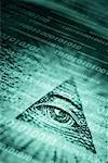 Eye in Pyramid on Binary Code