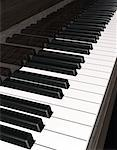 Close-Up of Piano Keyboard    Stock Photo - Premium Rights-Managed, Artist: Guy Grenier, Code: 700-00053723