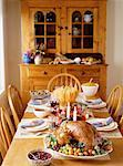 Thanksgiving Dinner on Table    Stock Photo - Premium Rights-Managed, Artist: Masterfile, Code: 700-00054638