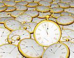 Pile of Gold Pocket Watches    Stock Photo - Premium Rights-Managed, Artist: Guy Grenier, Code: 700-00056431